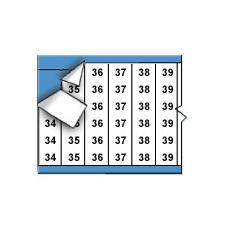 Opeenvolgende draadmerkernummers op kaart-TWM-34-66-PK