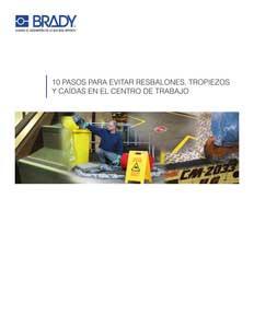 Guía para prevenir resbalones, tropiezos y caídas