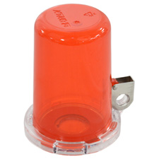 Push Button Lockout Device (16 mm), Red, with Tall Cover
