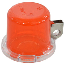 Push Button Lockout Device (22 mm), Red, with Standard Cover