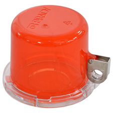 Push Button Lockout Device (30 mm), Red, with Standard Cover