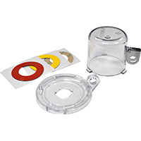 Push Button Lockout Device (16 mm), Clear, with Standard Cover