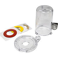 Push Button Lockout Device (16 mm), Clear, with Tall Cover