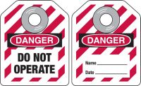 Mini Safety Lockout Tags-MINI SAFETY LOCK OUT TAGS