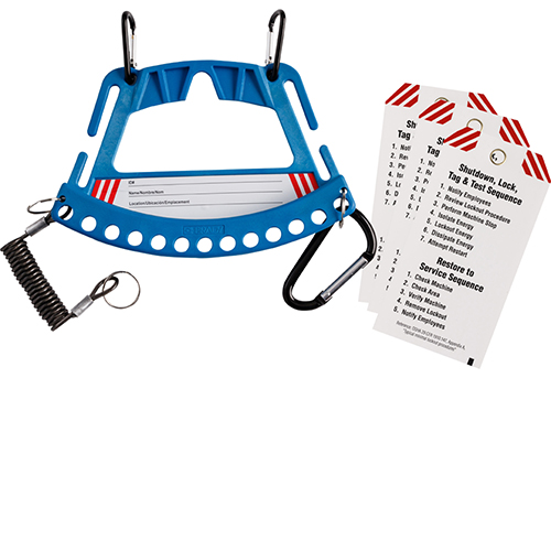Safety Lock & Tag Carrier System  - Blue-148862