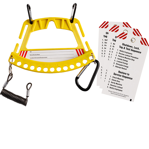 Safety Lock & Tag Carrier System  - Yellow