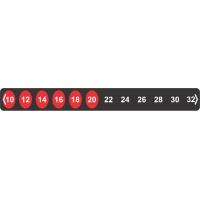 Reversible Temperature Indicating Labels - 12 Level-TIL-8-10C-32C