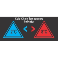 Reversible Temperature Indicating Labels - 2 Level-TIL-9-2C-8C
