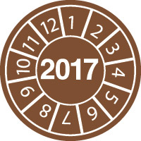 Tamper-evident Inspection Date Labels  Year 2017-813110