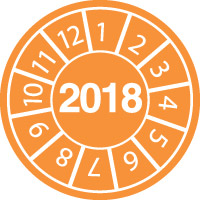 Tamper-evident Inspection Date Labels  Year 2018-813115