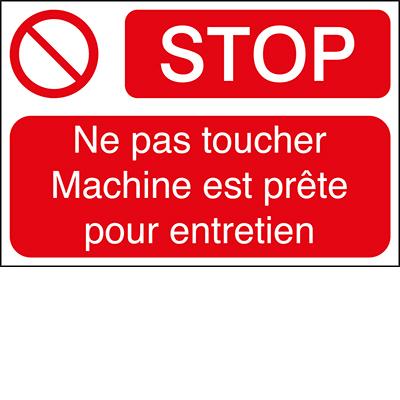 Étiquette -STOP Ne pas toucher Machine -100*150-B7541