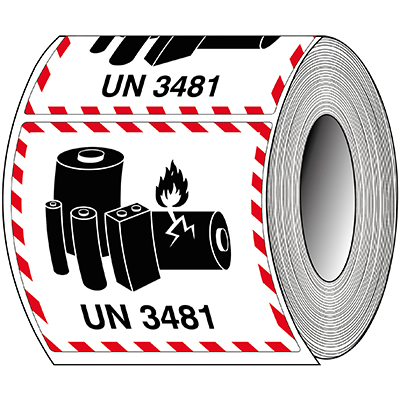 Packaging Labels - Lithium-ion - UN 3481