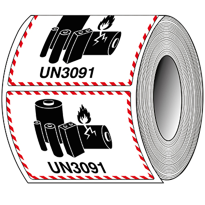 Packaging Labels - Lithium--metal - UN 3091-T/ADM-LBM-UN3091-105X74-1000