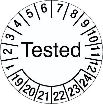 Inspection Date Label - Tested
