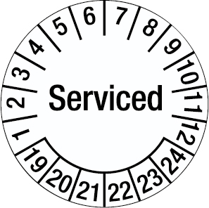 Inspection Date Label - Serviced