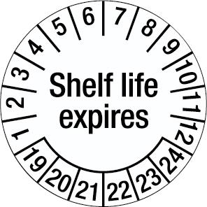 Inspection Date Label - Shelf life expires