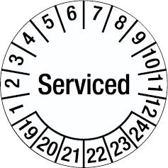 Tamper-evident Inspection Date Labels - Serviced-255921
