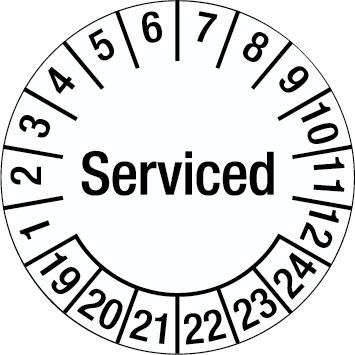 Tamper-evident Inspection Date Labels - Serviced-255922