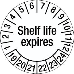 Tamper-evident Inspection Date Labels - Shelf life expires-255925