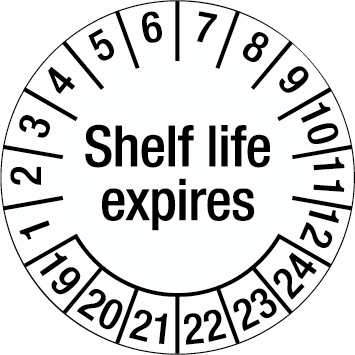 Tamper-evident Inspection Date Labels - Shelf life expires-255926