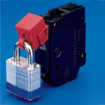 No Hole Circuit Breaker Lockout - 480-600 Volts Device