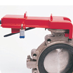 Created to secure your butterfly valve efficiently.  Non-conductive and allows 2 padlocks to be applied