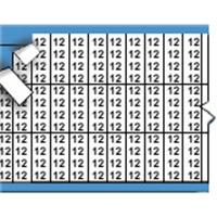 Nummers in miniatuurformaat op kaart-TMM-12-PK