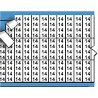 Nummers in miniatuurformaat op kaart-TMM-14-PK