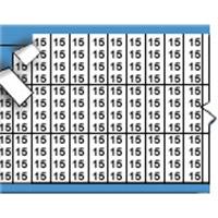 Nummers in miniatuurformaat op kaart-TMM-15-PK