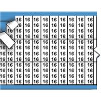 Nummers in miniatuurformaat op kaart-TMM-16-PK