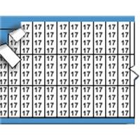 Nummers in miniatuurformaat op kaart-TMM-17-PK