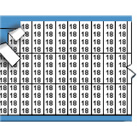 Nummers in miniatuurformaat op kaart-TMM-18-PK
