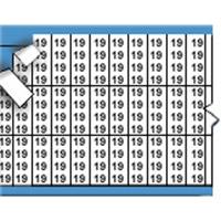 Nummers in miniatuurformaat op kaart-TMM-19-PK