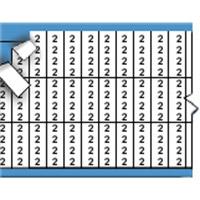 Nummers in miniatuurformaat op kaart-TMM-2-PK