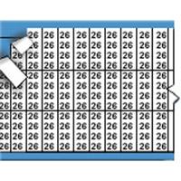Nummers in miniatuurformaat op kaart-TMM-26-PK