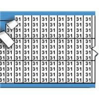Nummers in miniatuurformaat op kaart-TMM-31-PK
