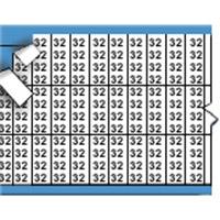 Nummers in miniatuurformaat op kaart-TMM-32-PK