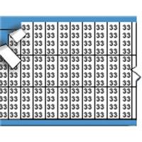 Nummers in miniatuurformaat op kaart-TMM-33-PK