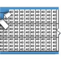 Nummers in miniatuurformaat op kaart-TMM-40-PK