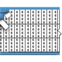 Nummers in miniatuurformaat op kaart-TMM-6-PK