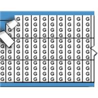 Letters in miniatuurformaat op kaart-TMM-G-PK
