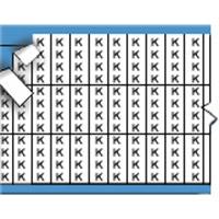 Letters in miniatuurformaat op kaart-TMM-K-PK