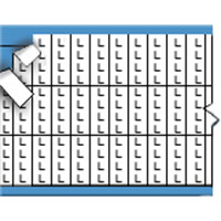 Letters in miniatuurformaat op kaart-TMM-L-PK