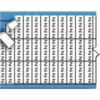 Letters in miniatuurformaat op kaart-TMM-Z-PK