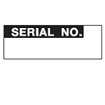 Inventory Labels - Serial No.-WO-34