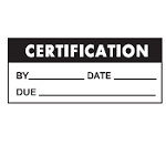 Quality Control labels - Certification-WO-42