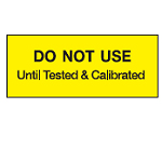 Write-on Calibration Labels - Do not use until tested & calibrated-WO-51