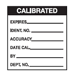 Write-on Calibration Labels - Calibrated-WO-63