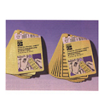 Blank Write-On Labels on sheets - Yellow without border-WOB-1119-G.O.R.