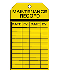Equipment Inspection Tags - Maintenance record-256508